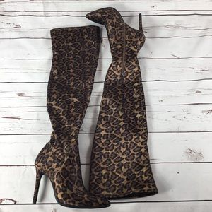 cc5c1806ad1 Jessica Simpson Shoes - Sexy Leopard Print Over The Knee Boot J. Simpson